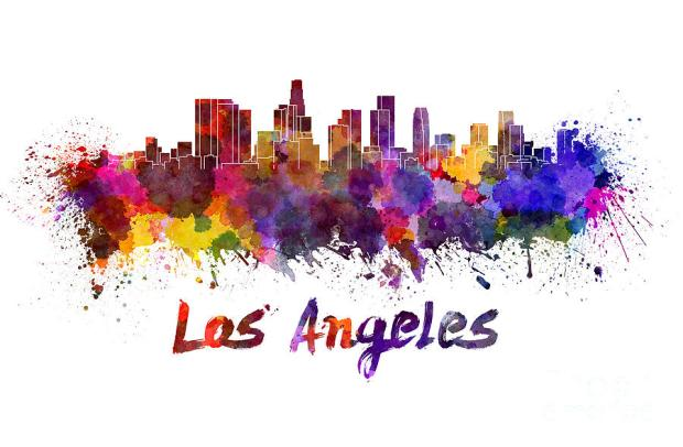 los-angeles-skyline-in-watercolor-pablo-romero